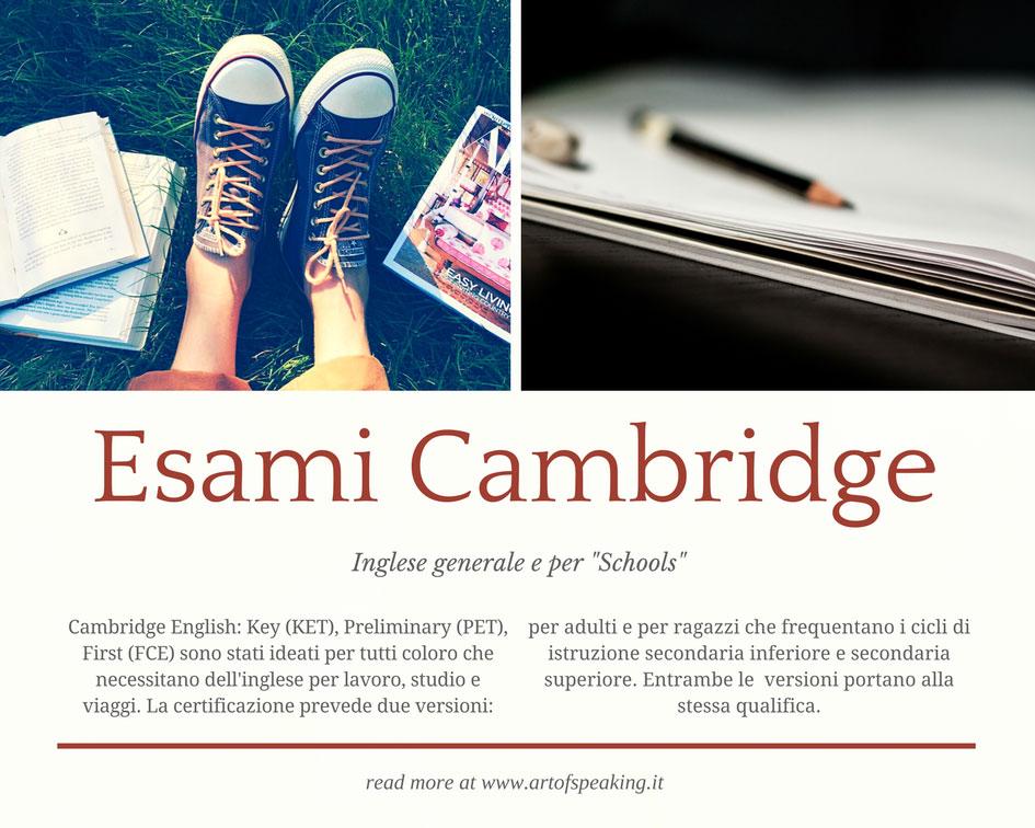 Esami Cambridge a milano